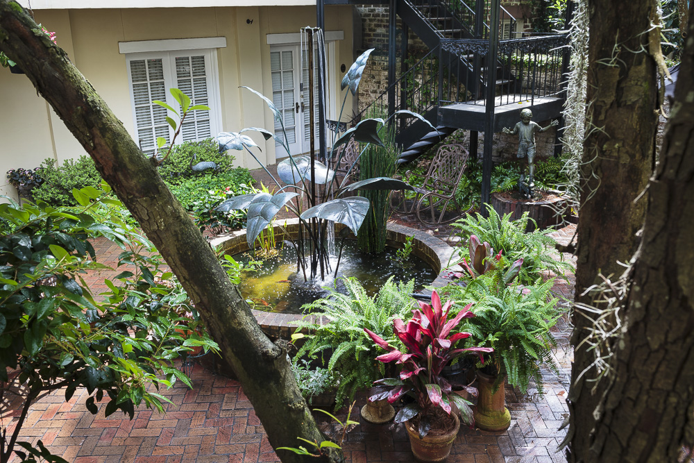Outside Courtyard of Eliza Thompson House Savannah